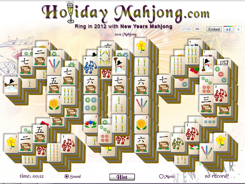 Celebrate the New Year with 2012 Mahjong!