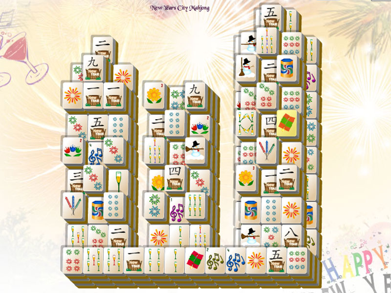 Celebrate with New Years in the City Mahjong!