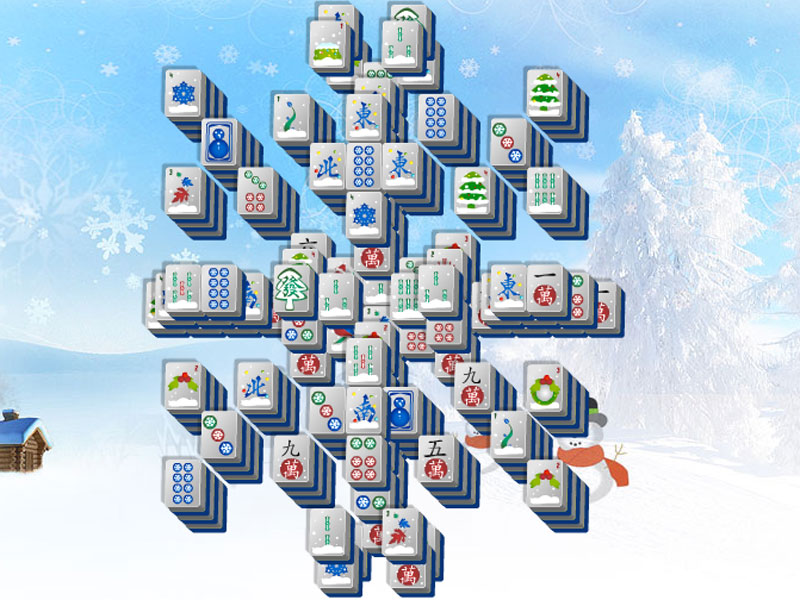 Celebrate the snow with Snowflake Mahjong!