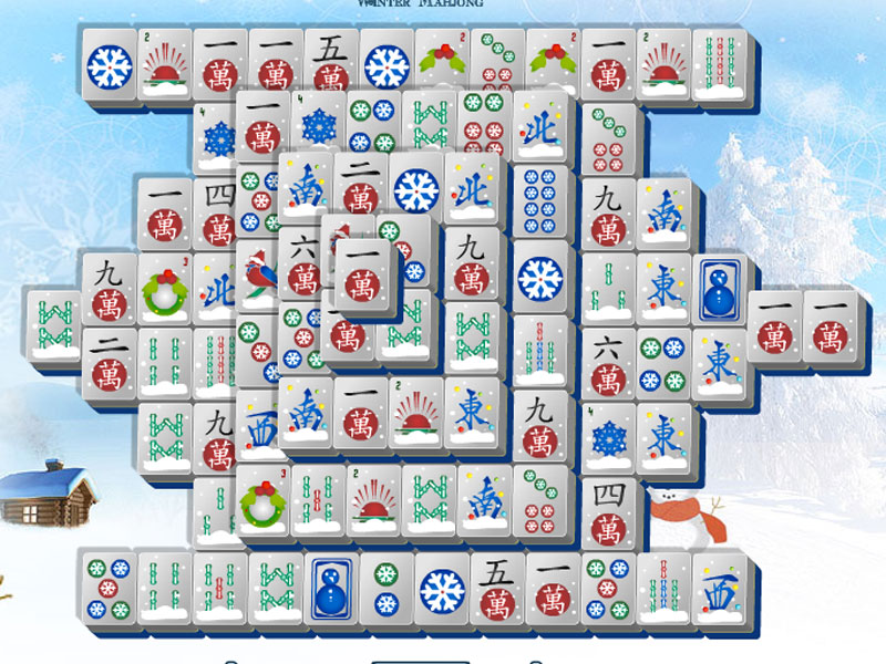 Winter Mahjong is delightful when it's cold!