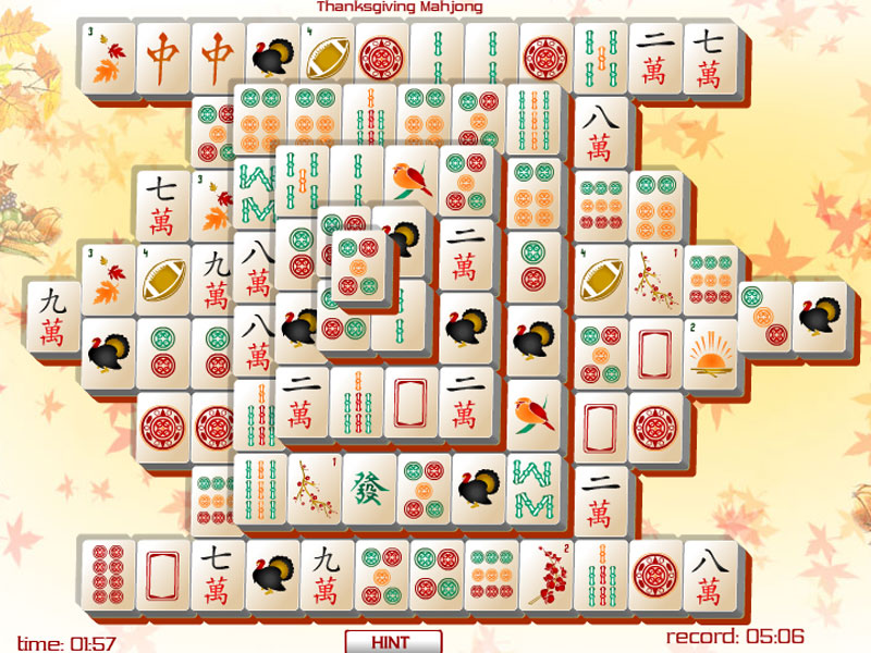 Thanksgiving rocks with Thanksgiving Mahjong.